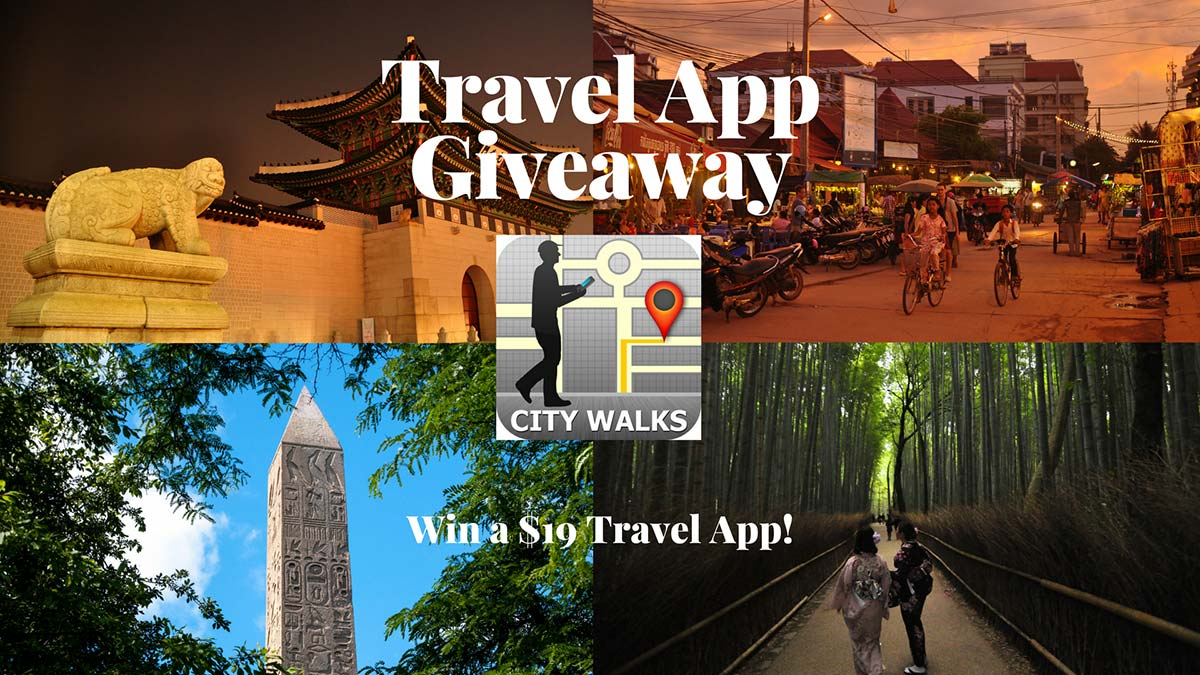 Giveaway - FREE Walking Tour Travel App! - Live, Travel, Teach
